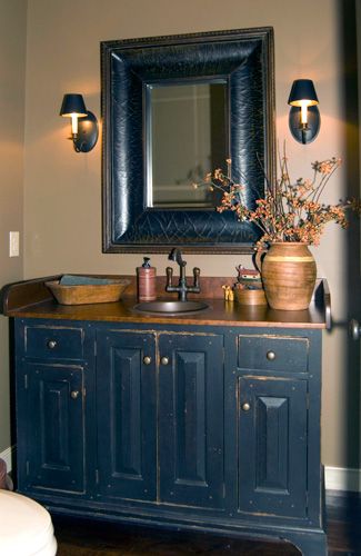Workshops of david t smith bathroom vanities image - Primitive paint colors for bathrooms ...